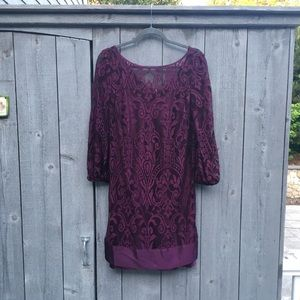Laundry by Shelli Segal - Wine Lace Dress